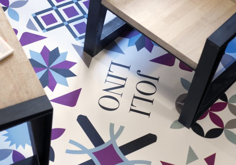 Decoración suelo panel aluminio, tela personalizada, troquelados especiales Optimae