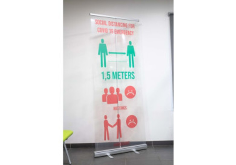 Roll-up, banner, eventos Optimae